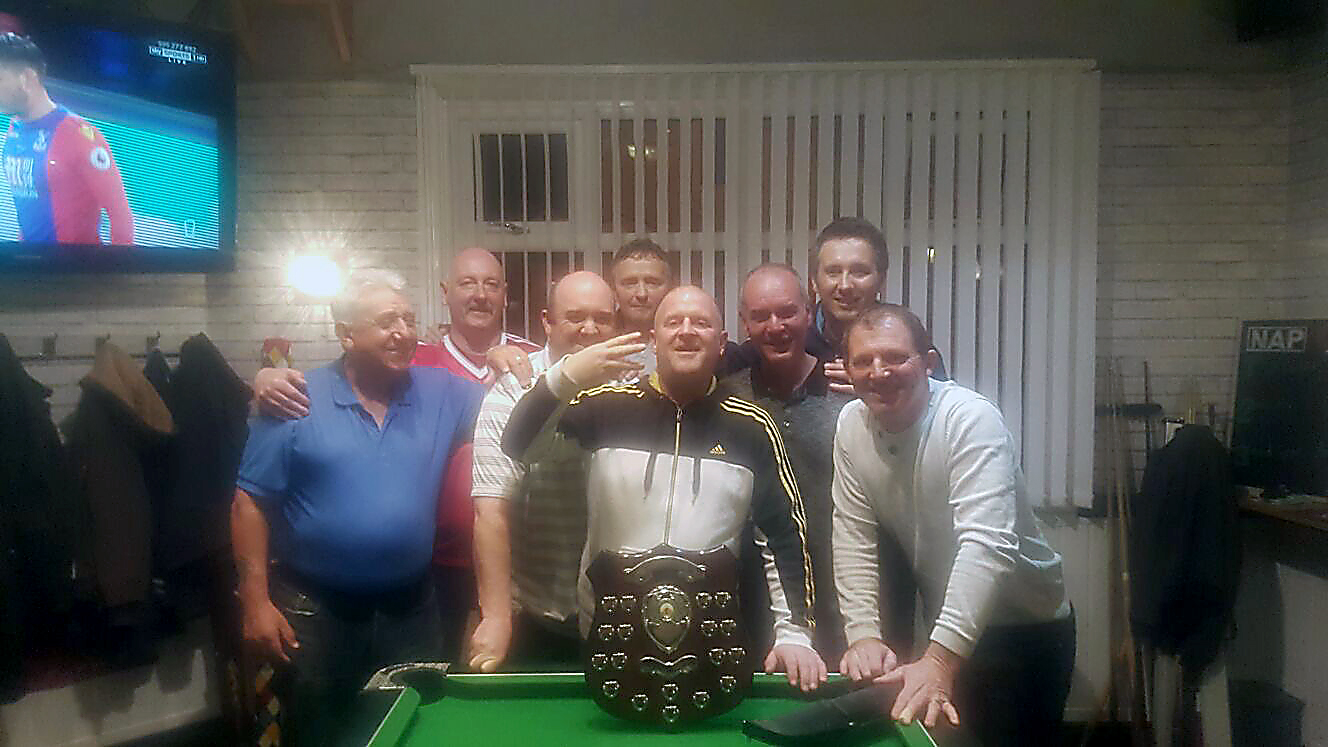 Well done to the Eight Farmers for winning the Team KO for the third year in a row against the Broughton Arms