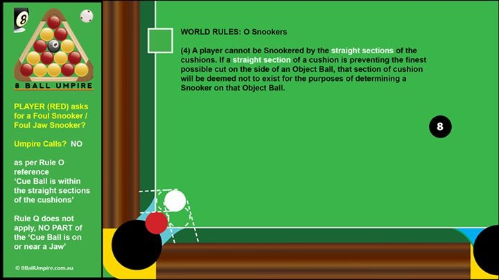 Foul and jaw snooker examples