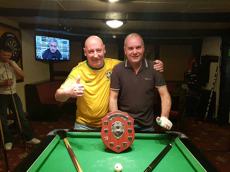 Well done to Dave Watts and Terry Kimberlin from the Eight Farmers on winnings the 2018 Doubles KO