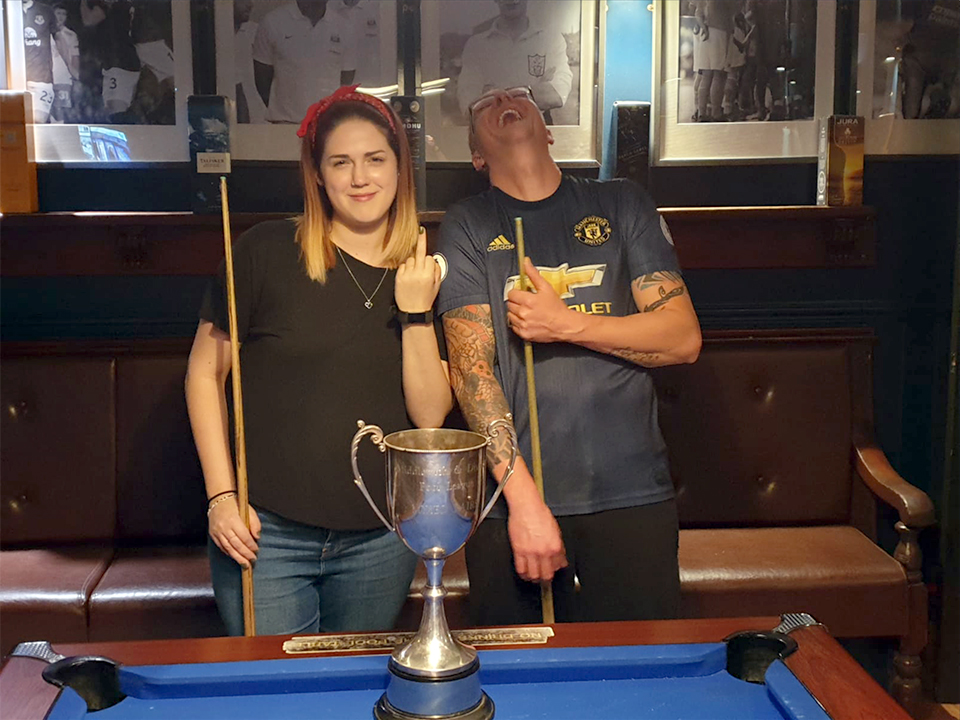Well done to Rhiannon Graham & Daniel Pimlott on winning the 2019 Mixed Doubles KO